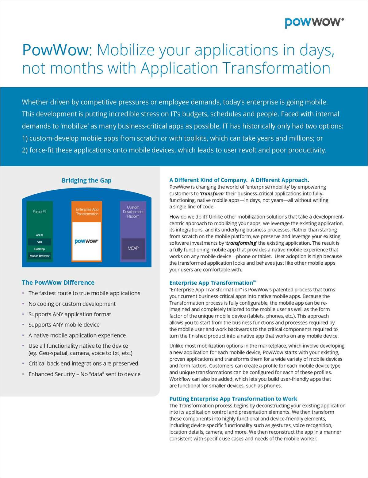 A New Way to Mobilize Your Enterprise Applications