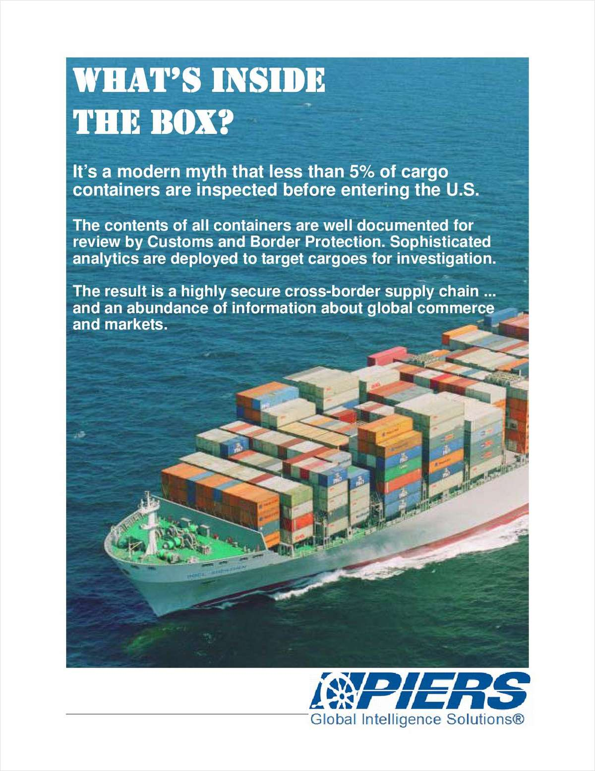 What's inside the Box?:  Multi-layer Security and Customs/ Border Protection (CBP)