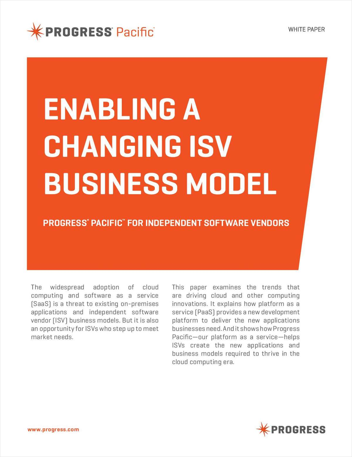 Enabling a Changing ISV Business Model