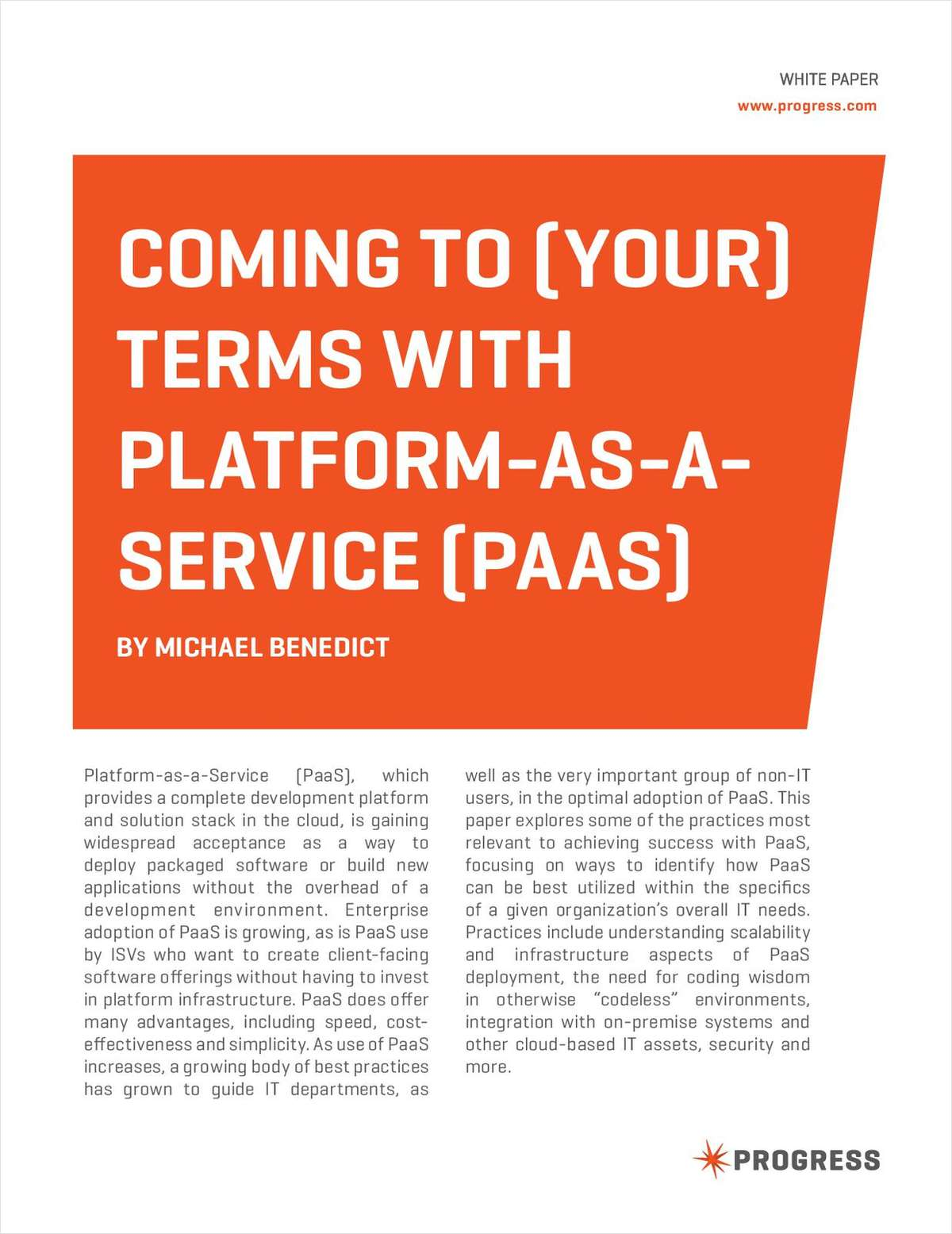 Coming to Terms with Platform as a Service
