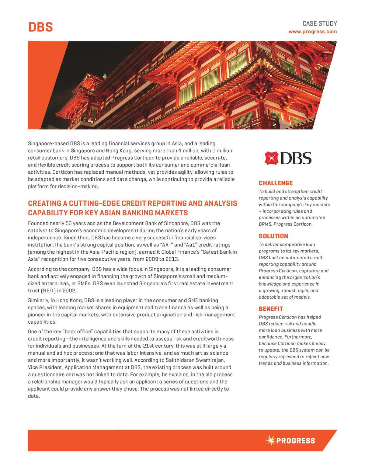 Creating a Cutting-Edge Reporting and Analyst Capability for the Banking Market