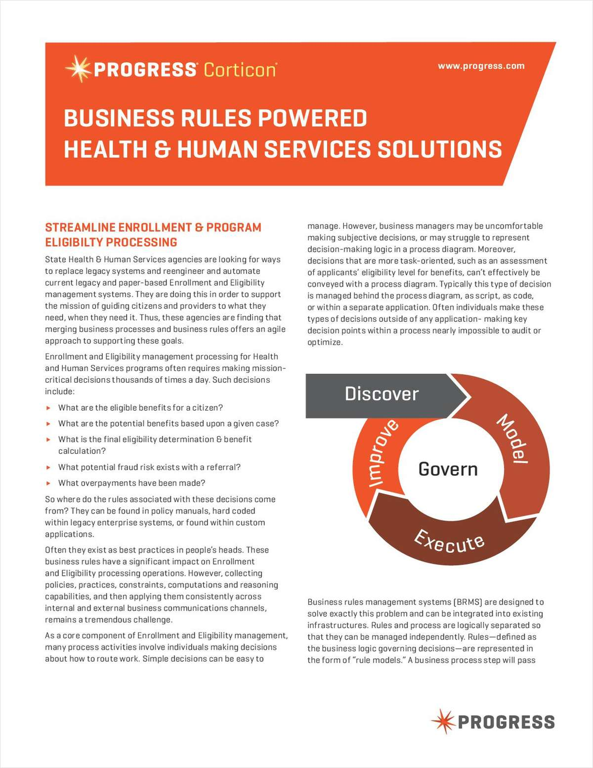 Business Rules Powered Health & Human Services Solutions