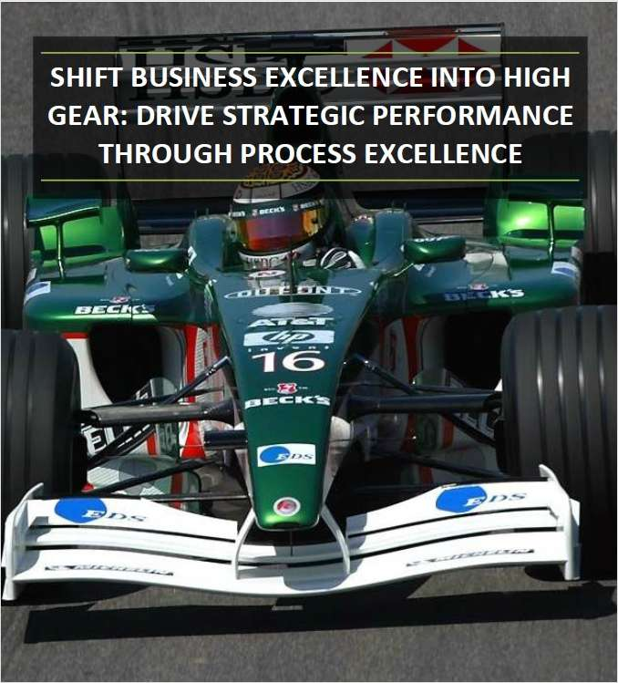 Drive Strategic Performance through Process Excellence Annual Report