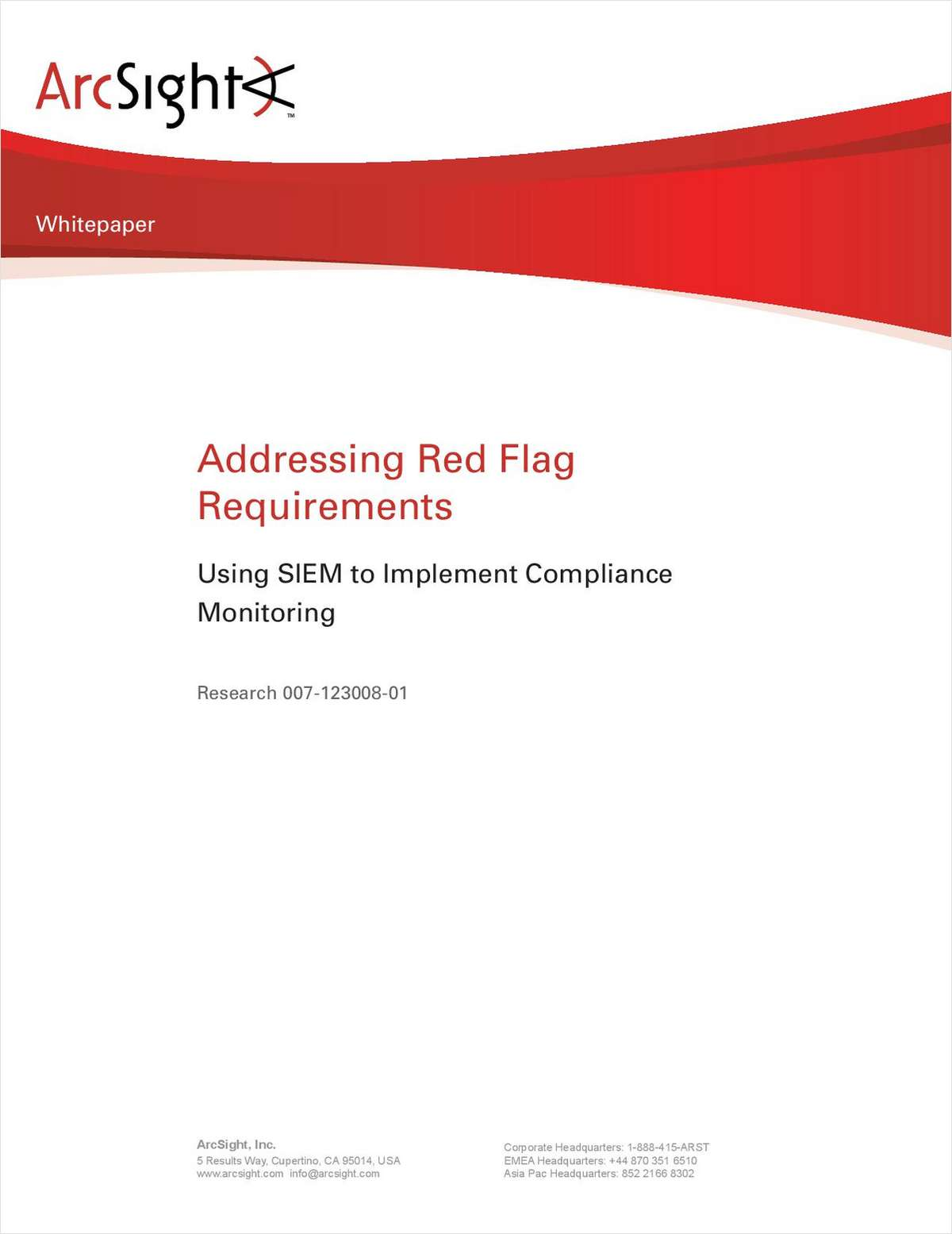 Addressing Red Flag Requirements