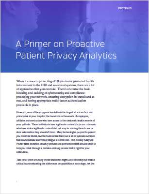 Healthcare Privacy and Security Primer