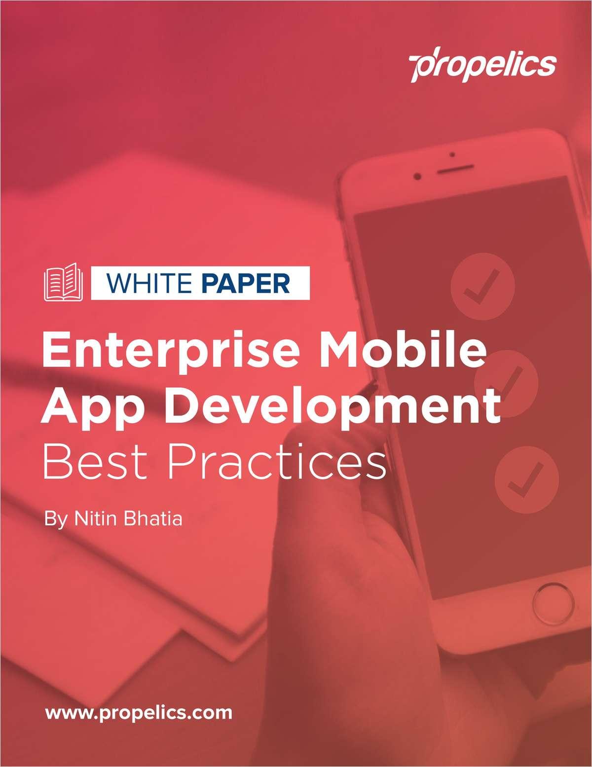 White Paper: Enterprise Mobile App Development Best Practices