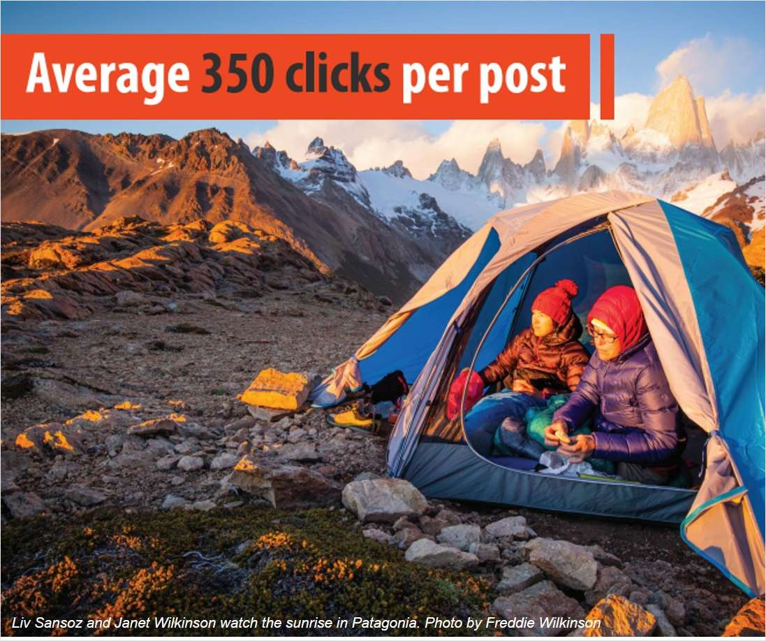 Mountain Hardwear successfully amplifies its brand and product messages via its retailers to over 555,000 new consumers thanks to socialondemand®