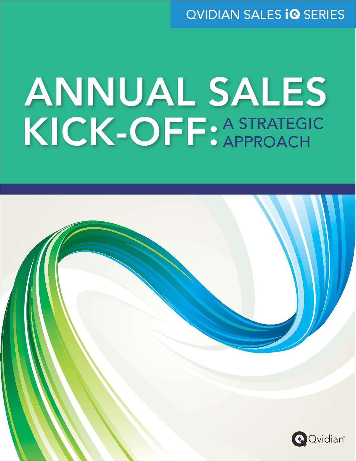 Annual Sales Kick-offs: A Strategic Approach