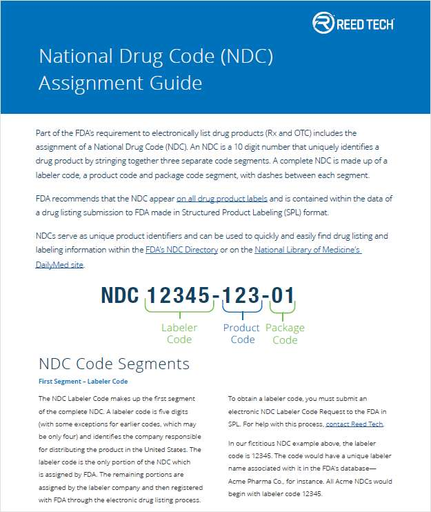 National Drug Code (NDC) Assignment Guide