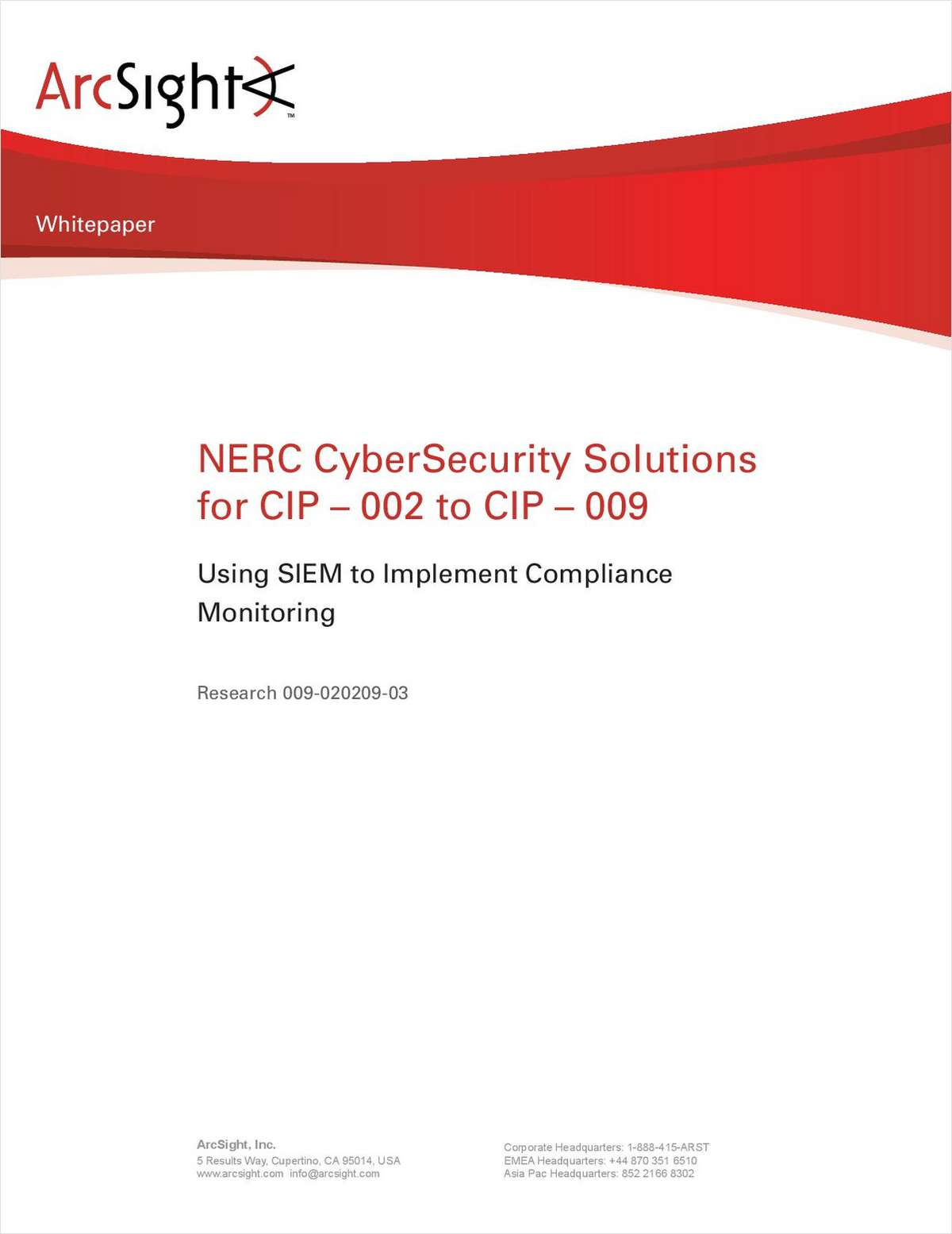 NERC CyberSecurity Solutions for CIP 002 - CIP 009