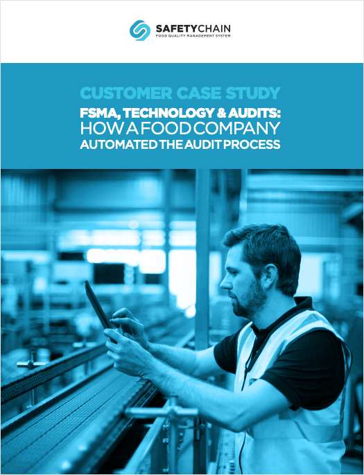 FSMA, Technology & Audits: How a Food Company Automated the Audit Process