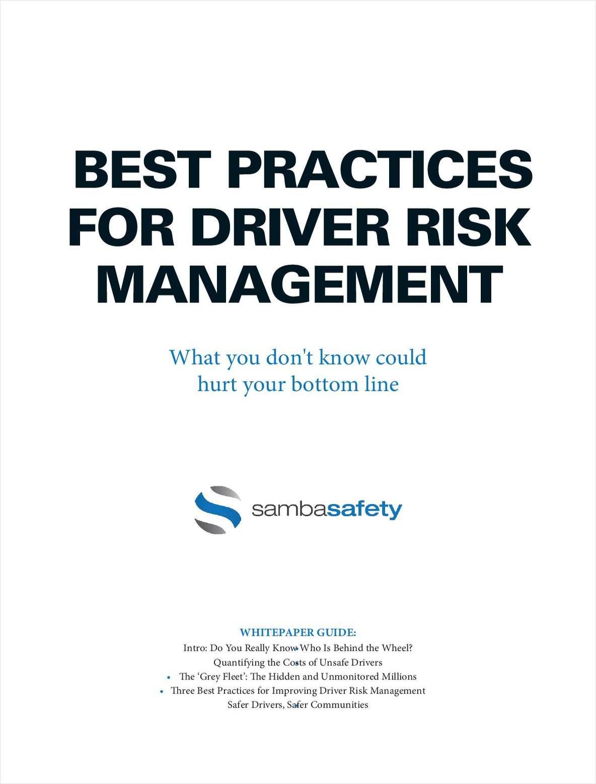 Best Practices for Driver Risk Management
