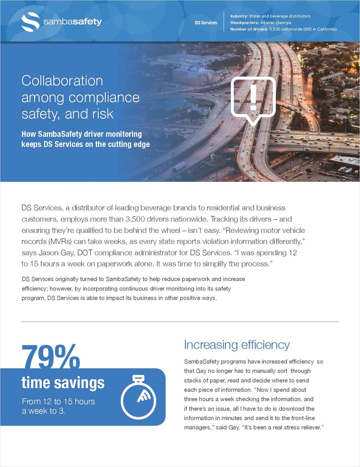 How SambaSafety driver monitoring keeps DS Services on the cutting edge