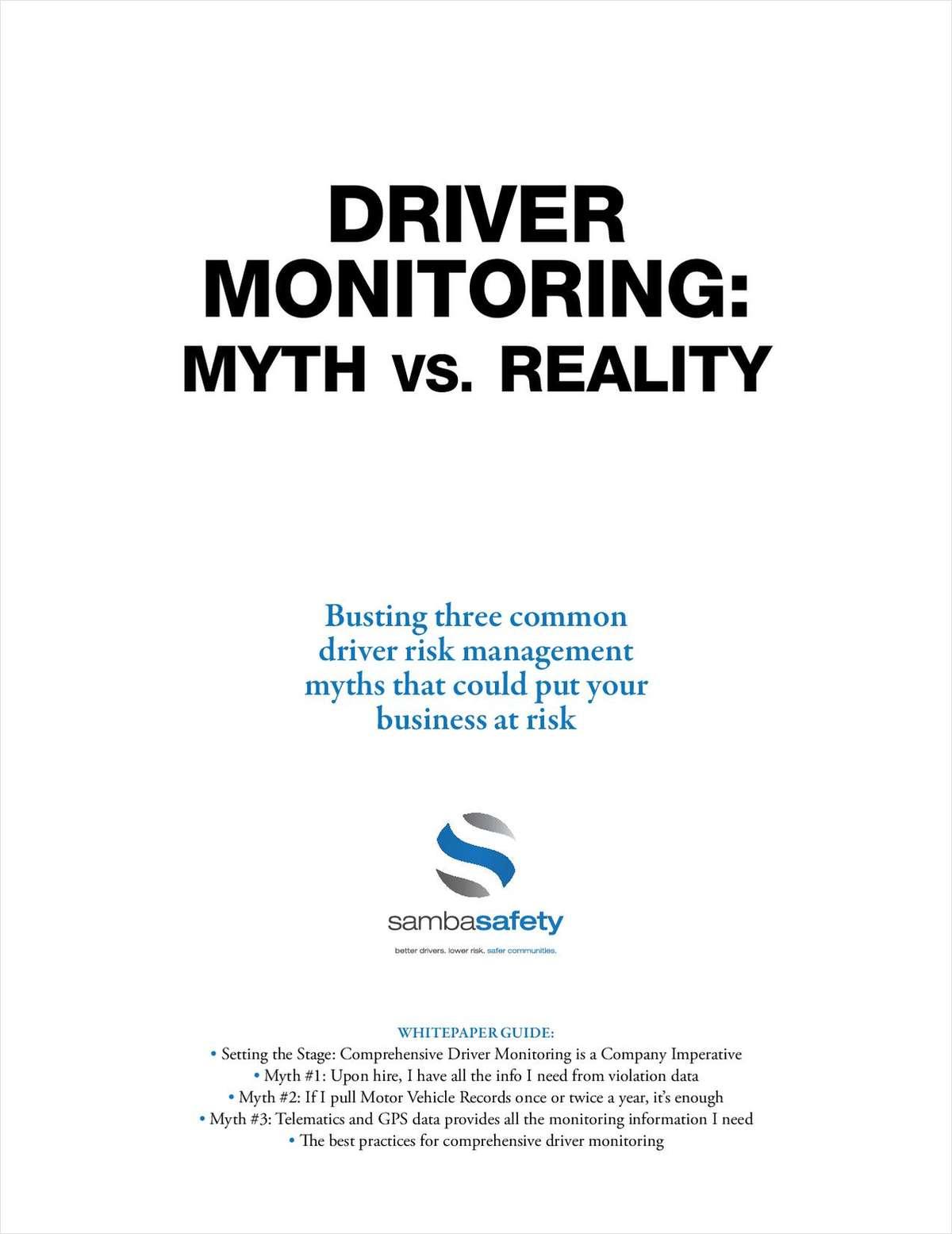 Driver Monitoring - Myth vs. Reality