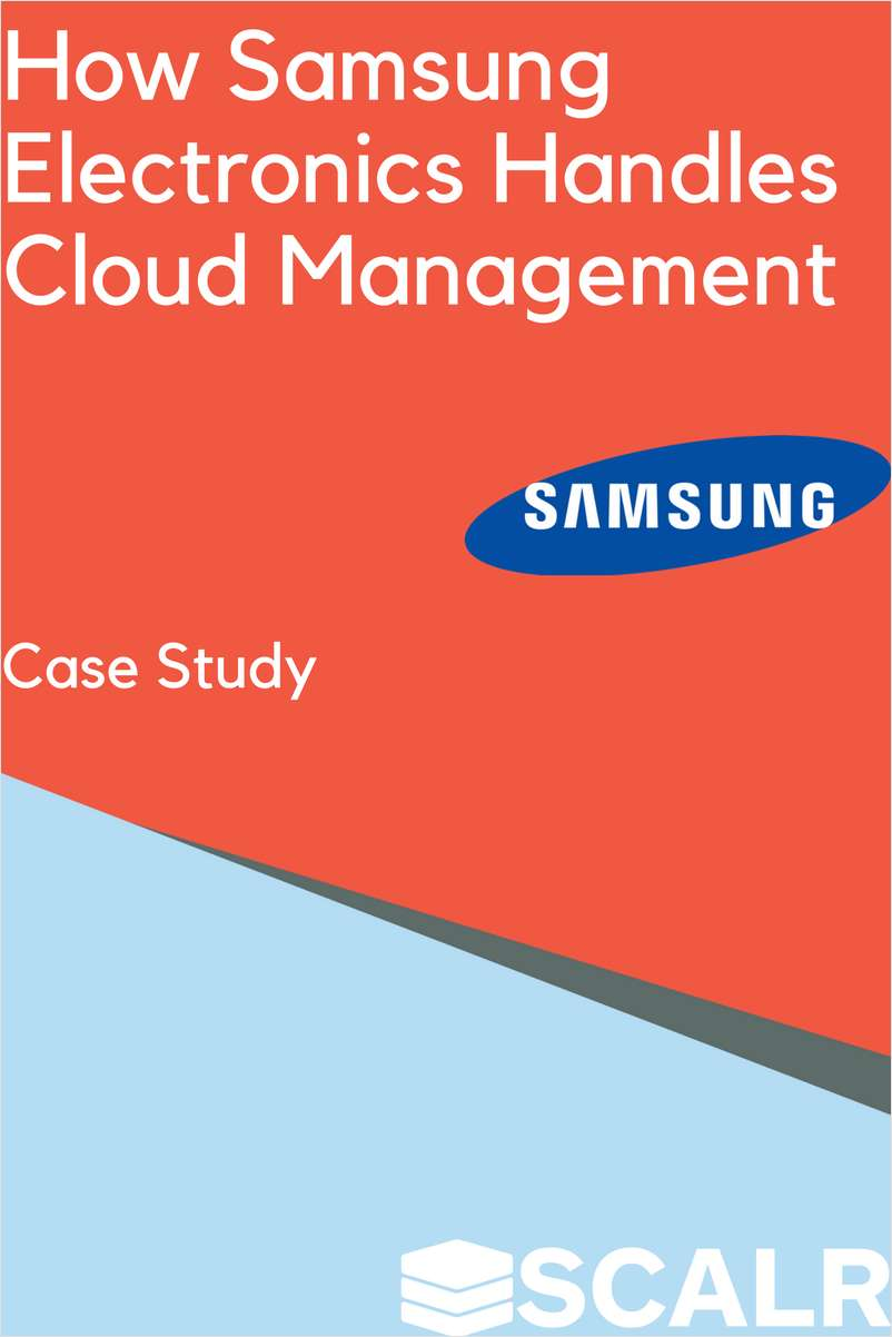 Learn How Samsung Electronics Accelerated Cloud Adoption with Scalr