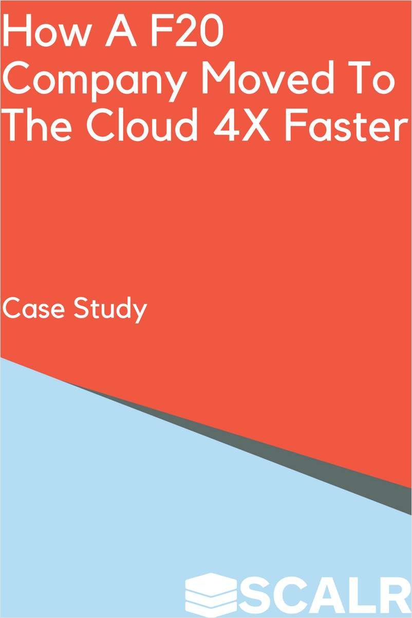 Lean How a F20 Company Moved To The Cloud 4X Faster