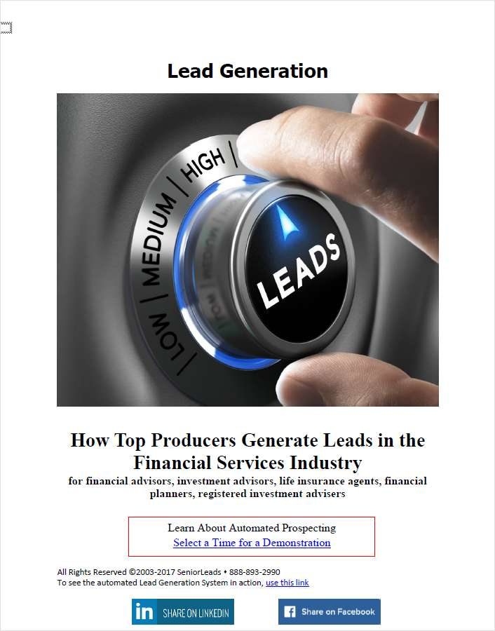 Five Ways That Top Producers Generate Leads
