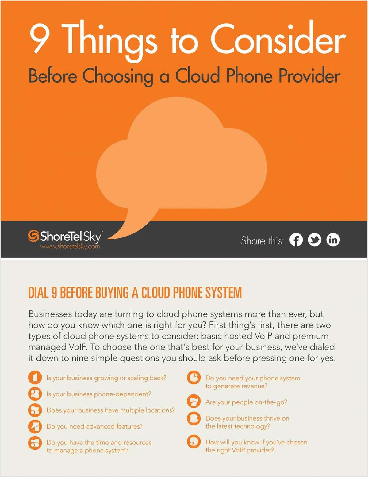 9 Things to Consider Before Choosing a Cloud Phone Provider