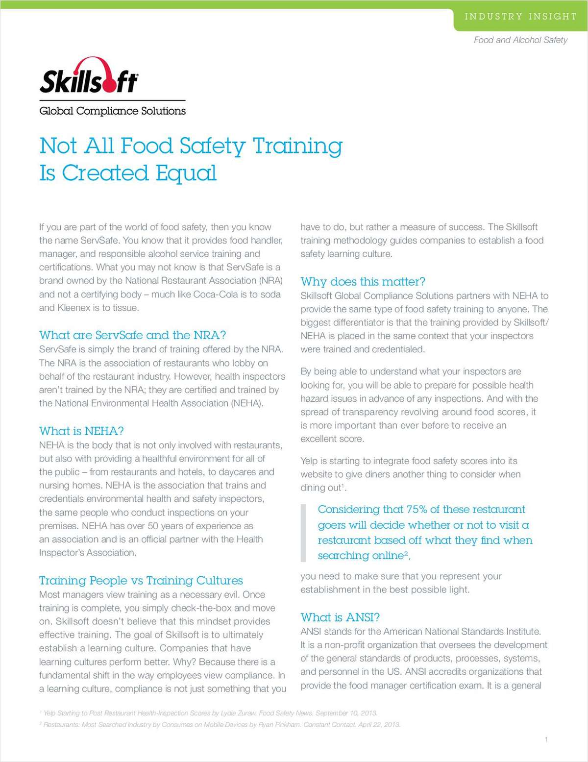 Not All Food Safety Training Is Created Equal