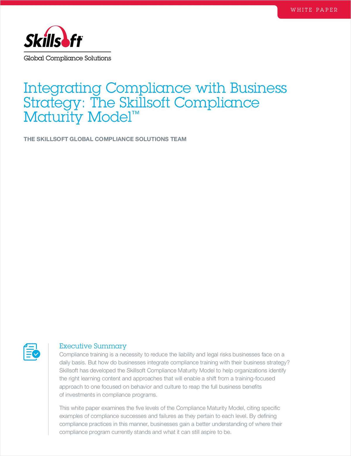 Integrating Compliance with Business Strategy