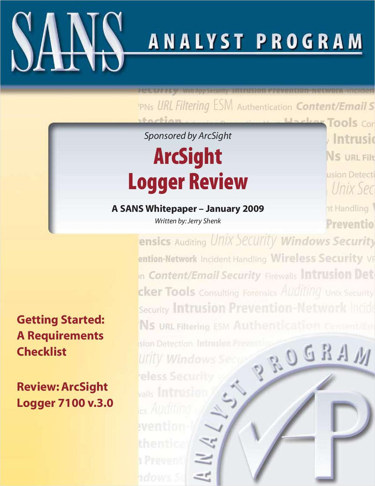 SANS Analyst Review - Log Management