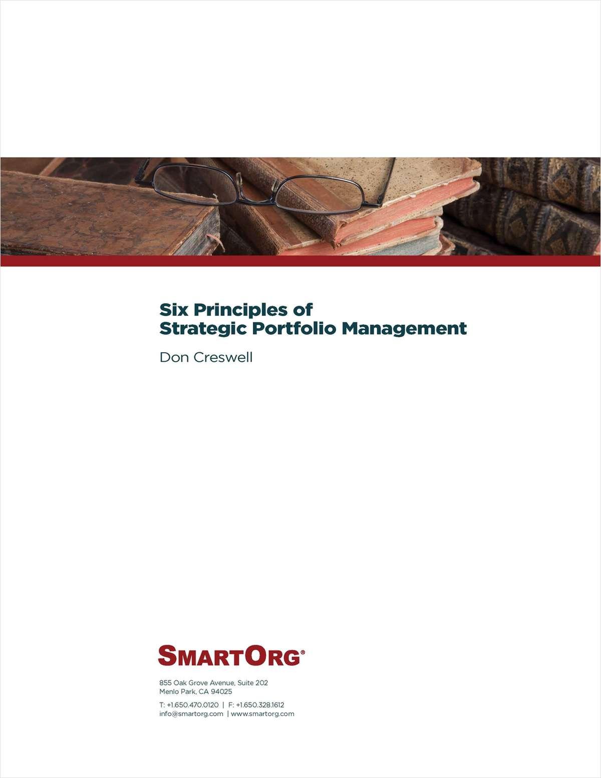 Six Principles of Strategic Portfolio Management