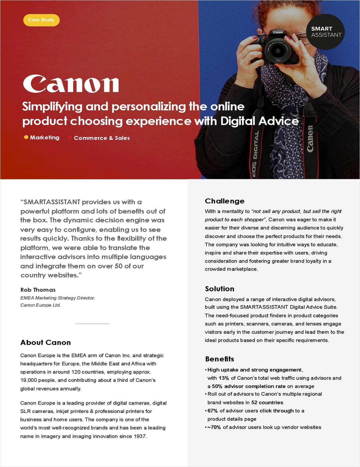 Helping Shoppers Choose: How Canon Boosts Brand Consideration Across 52 Country Websites