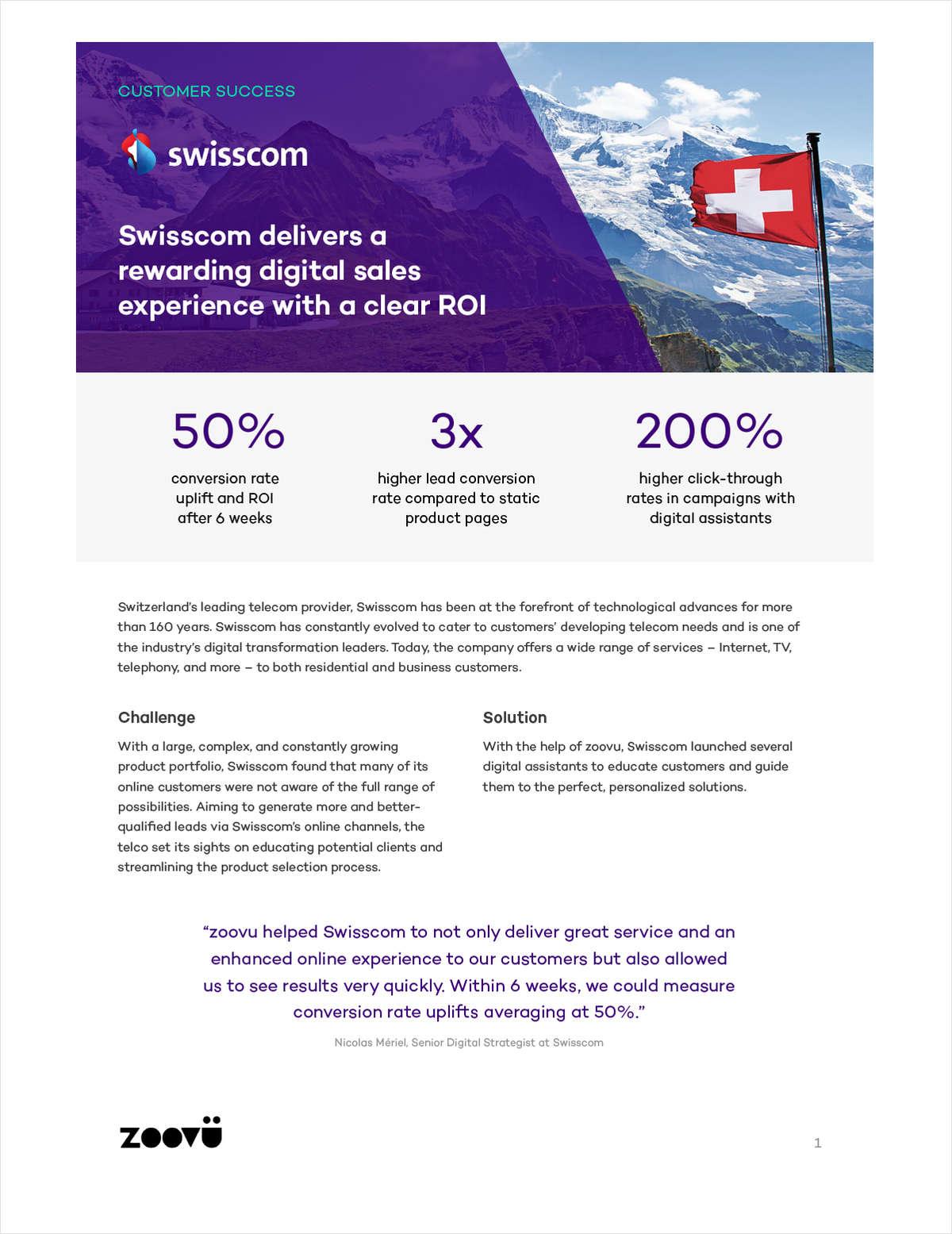 Swisscom Drives Lead Generation with Intelligent Digital Assistants