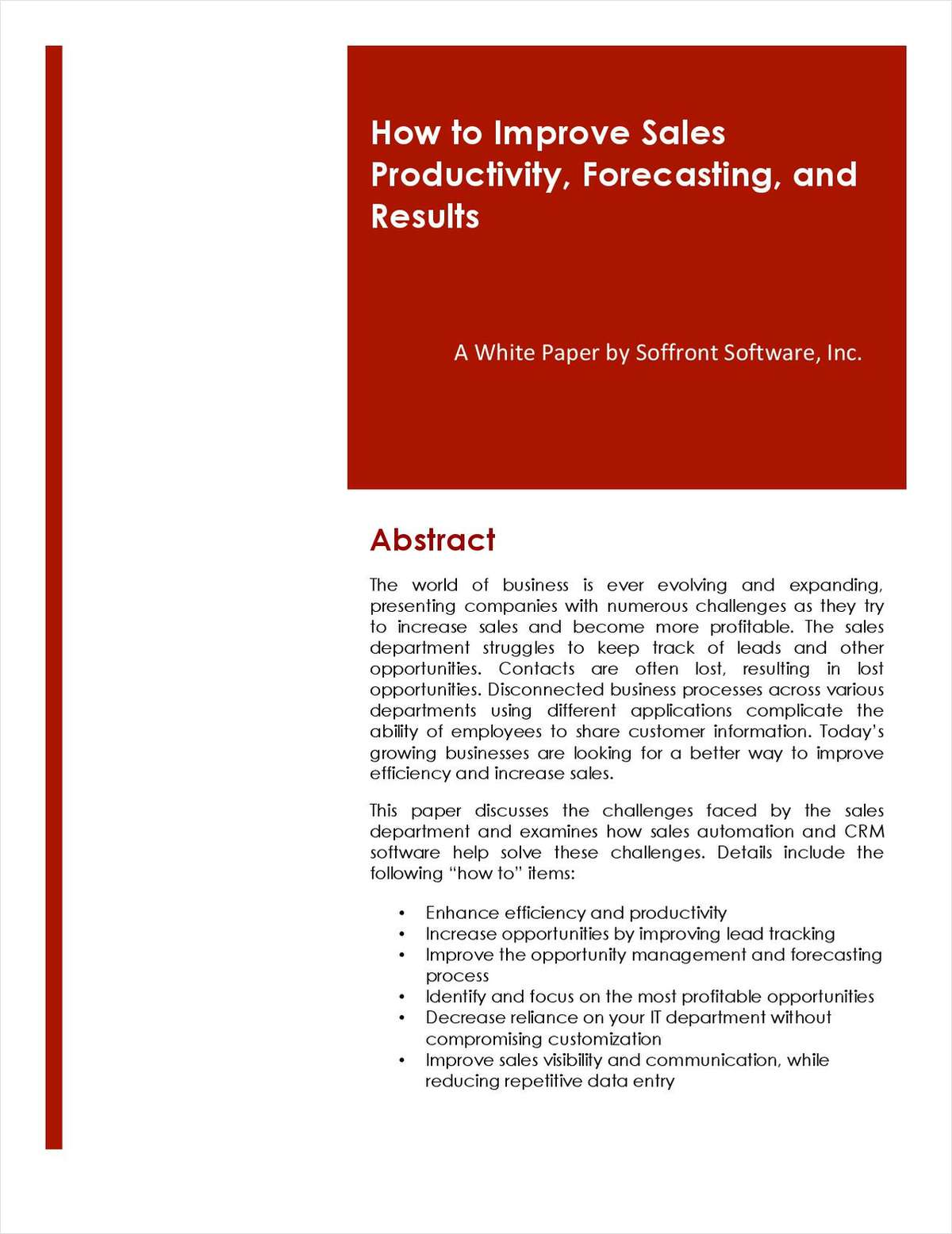 How to Improve Sales Productivity, Forecasting, and Results