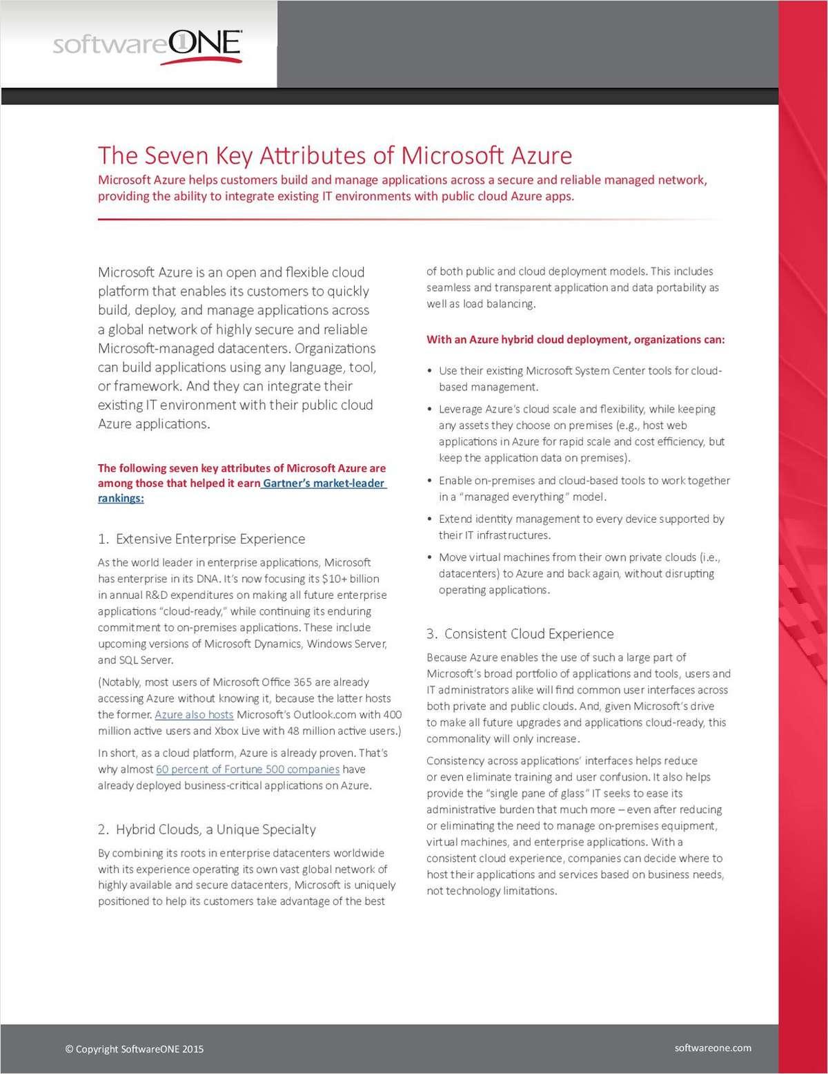 The Seven Key Attributes of Microsoft Azure