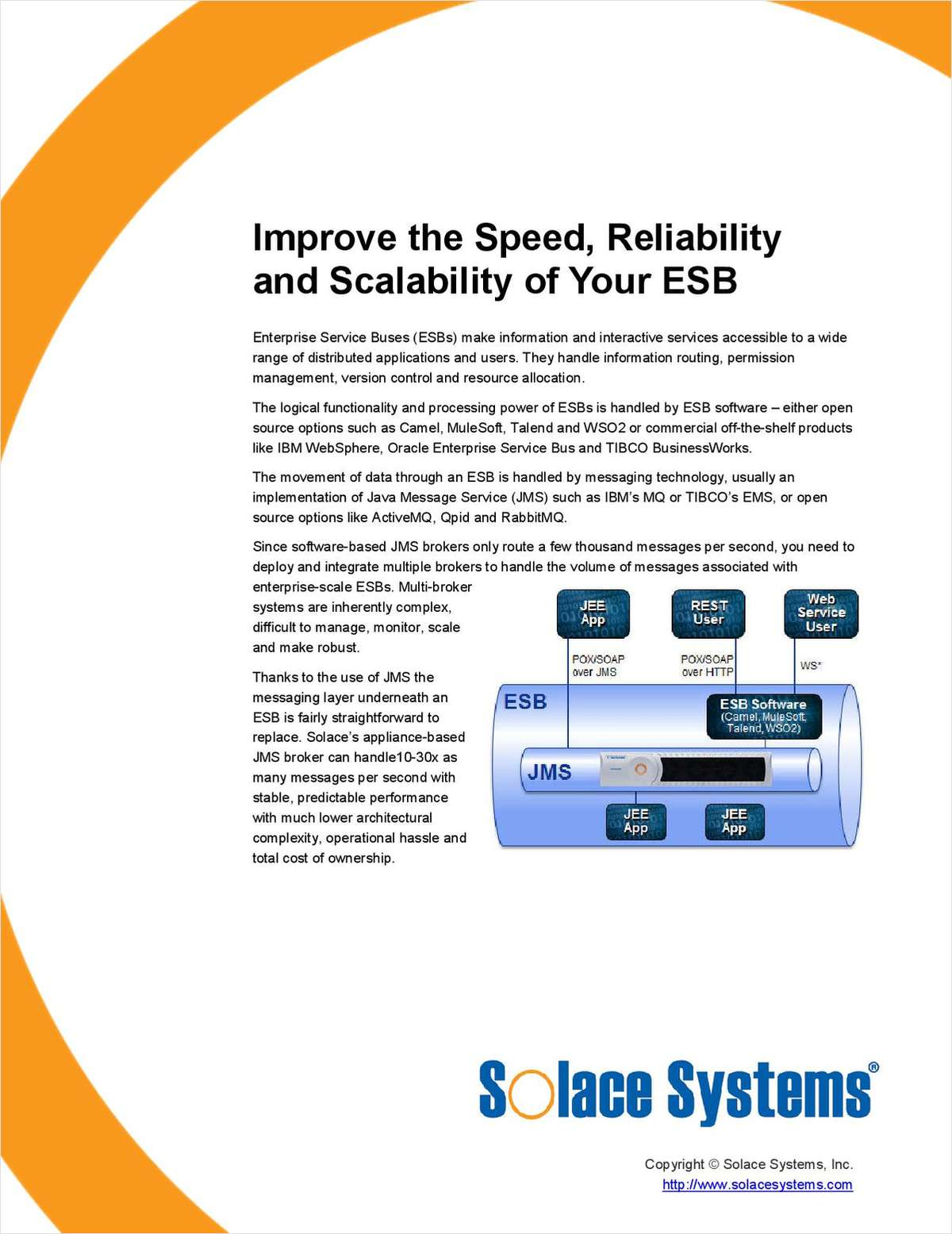 Improve the Speed, Reliability and Scalability of Your ESB