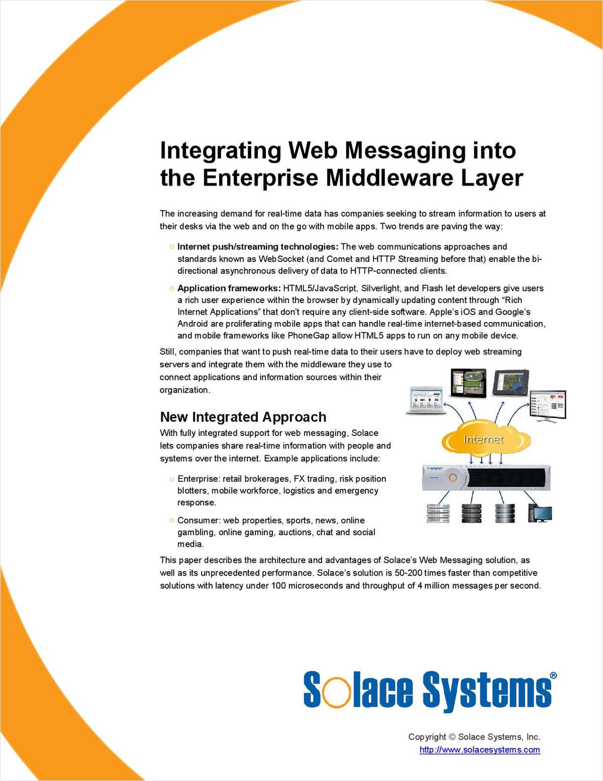 Integrating Web Messaging into the Enterprise Middleware Layer