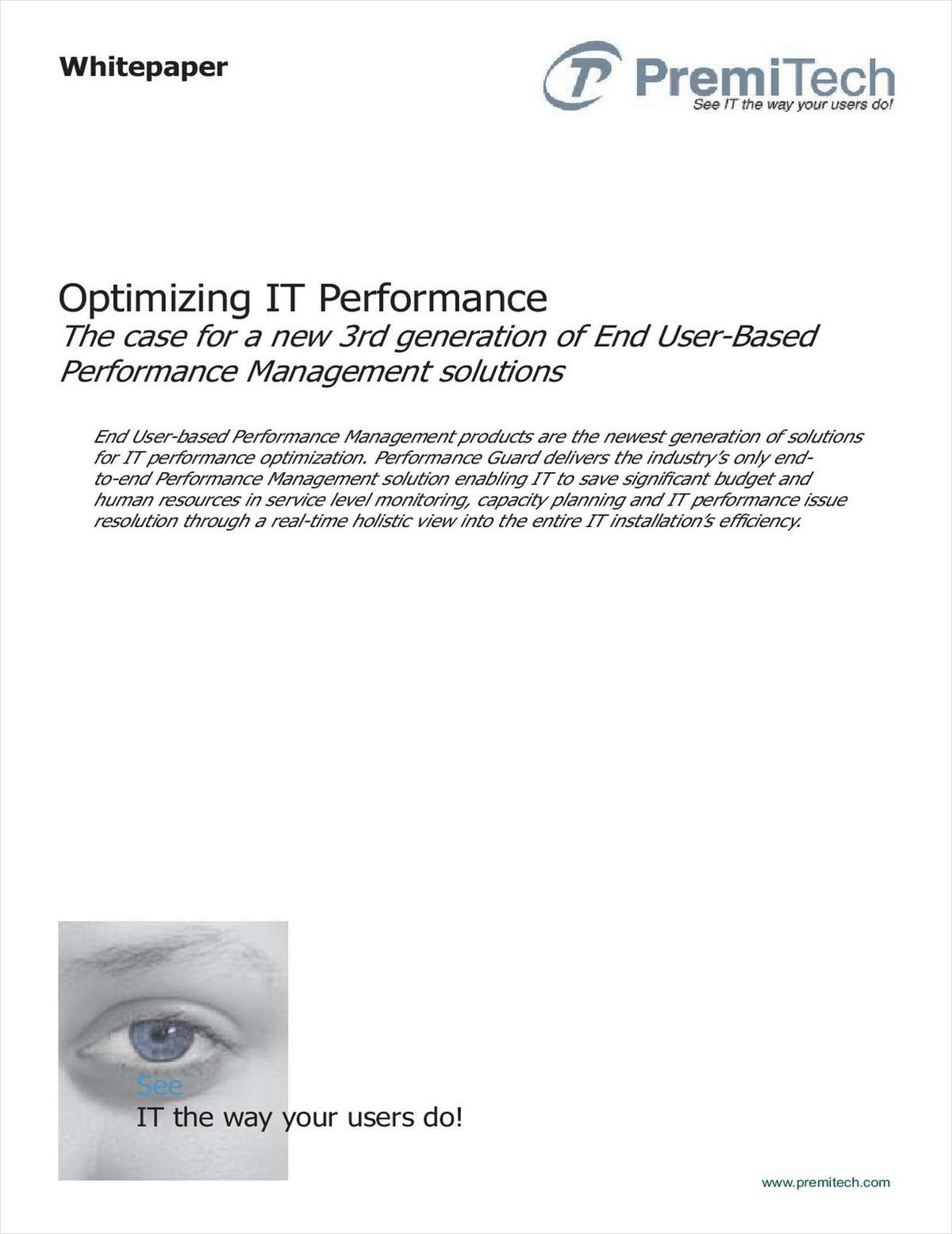 How to Optimize IT Performance with End User-Based Solutions
