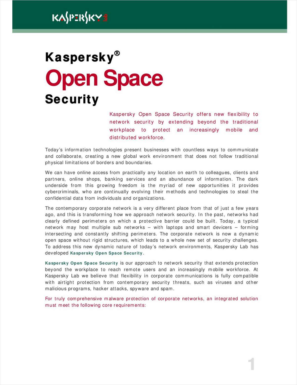 Open Space Security™ Network Protection