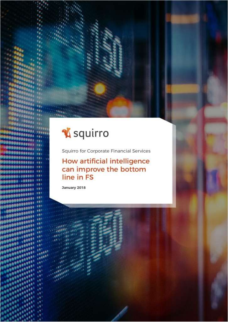 How Artificial Intelligence Can Improve the Bottom Line in Financial Service