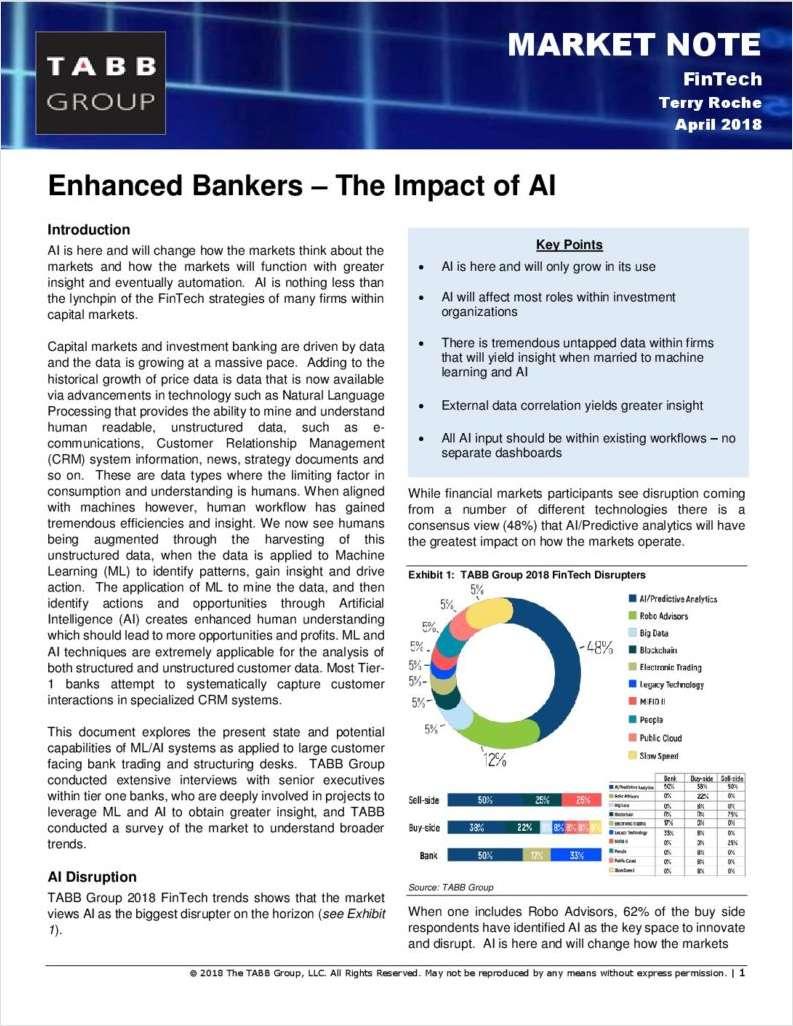 Enhanced Bankers -- The Impact of AI