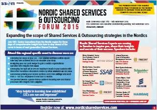 The Nordic Shared Services Centers evolution