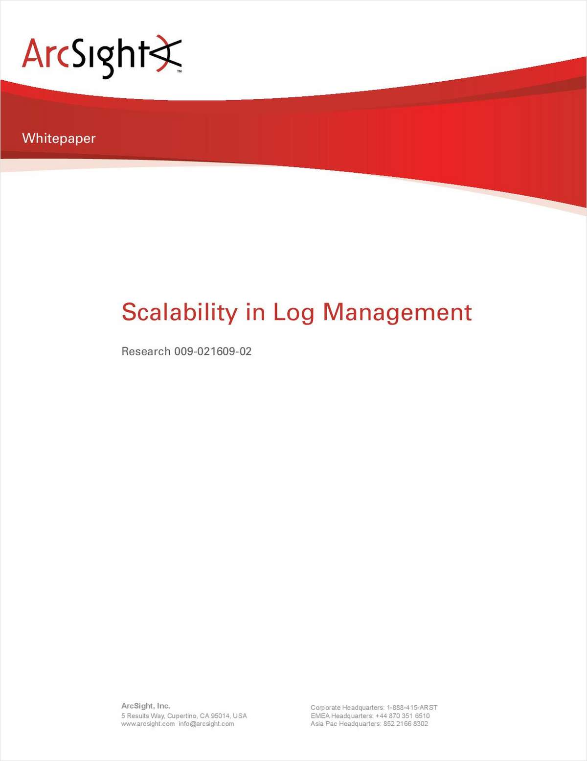 Scalability in Log Management