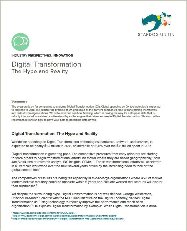 Digital Transformation: The Hype and Reality