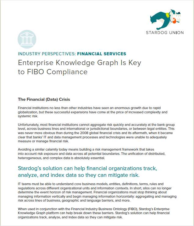 Enterprise Knowledge Graph Is Key to FIBO Compliance