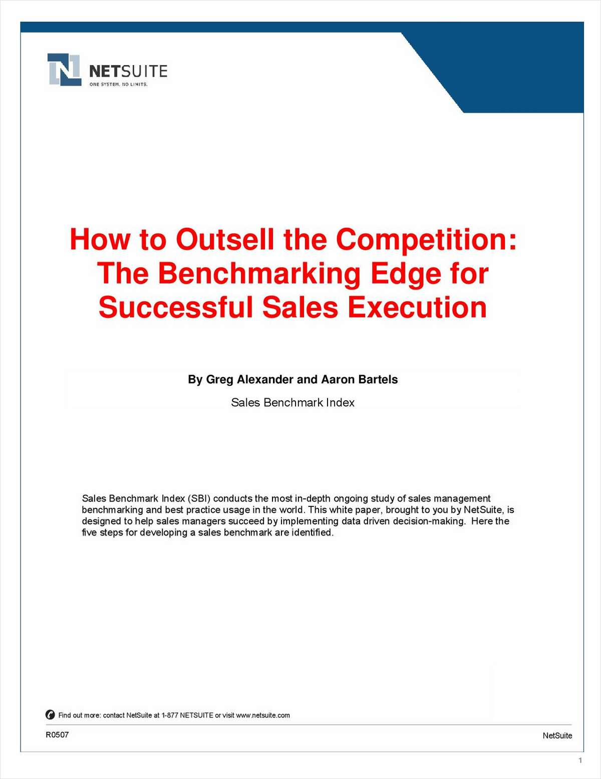 How to Outsell the Competition: The Benchmarking Edge for Successful Sales Execution