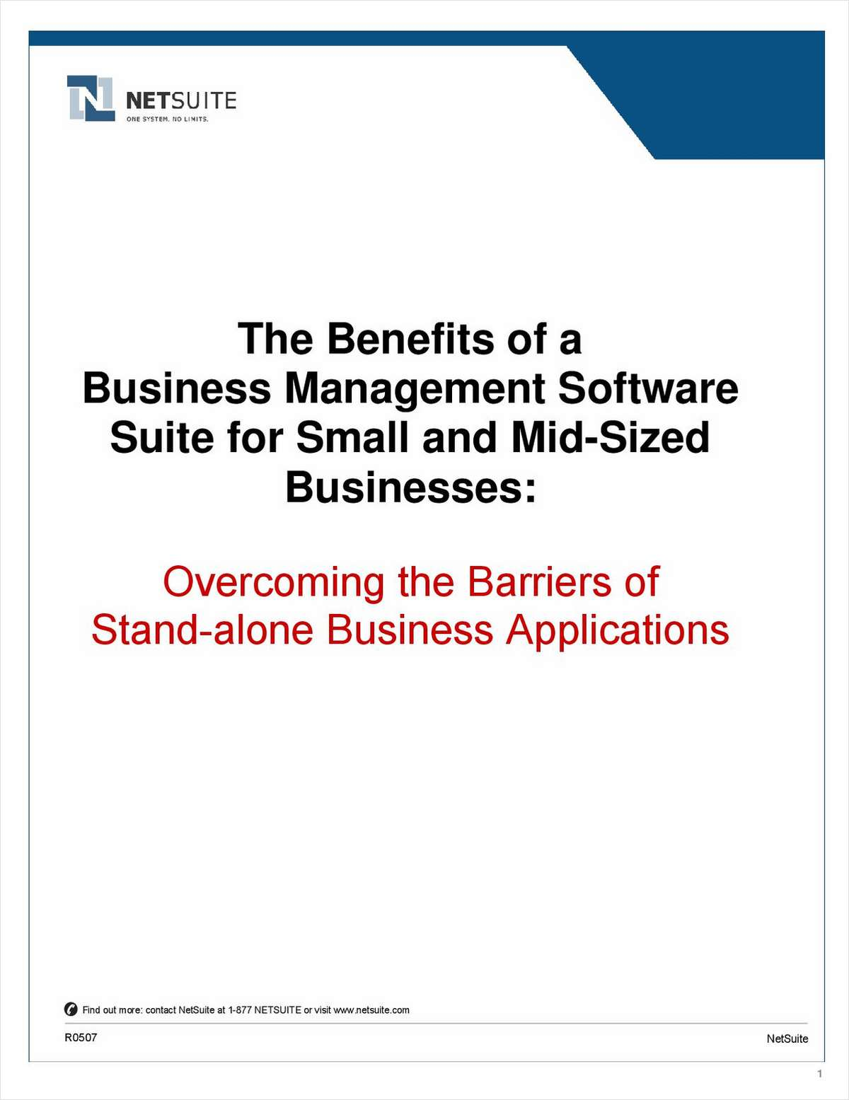 Overcoming the Barriers of Stand-alone Business Applications