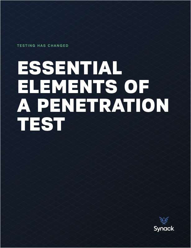 Essential Elements of a Penetration Test