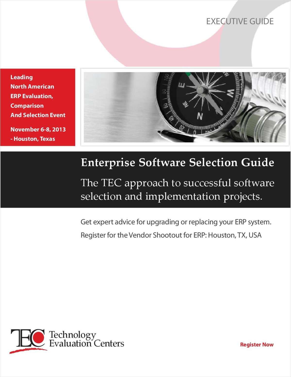 Executive Guide to Successful Enterprise Software Selection