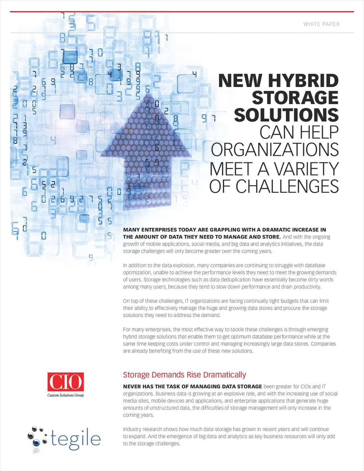 CIO: New Hybrid Storage Solutions