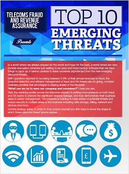 What are the top 10 emerging threats in telecoms?