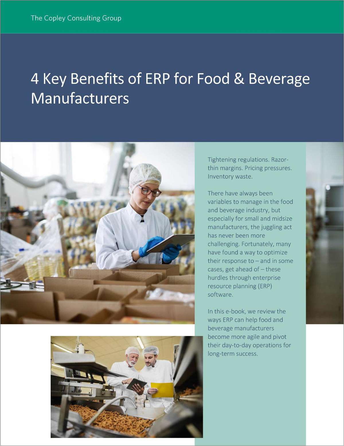 4 Benefits of ERP for Food & Beverage Manufacturers