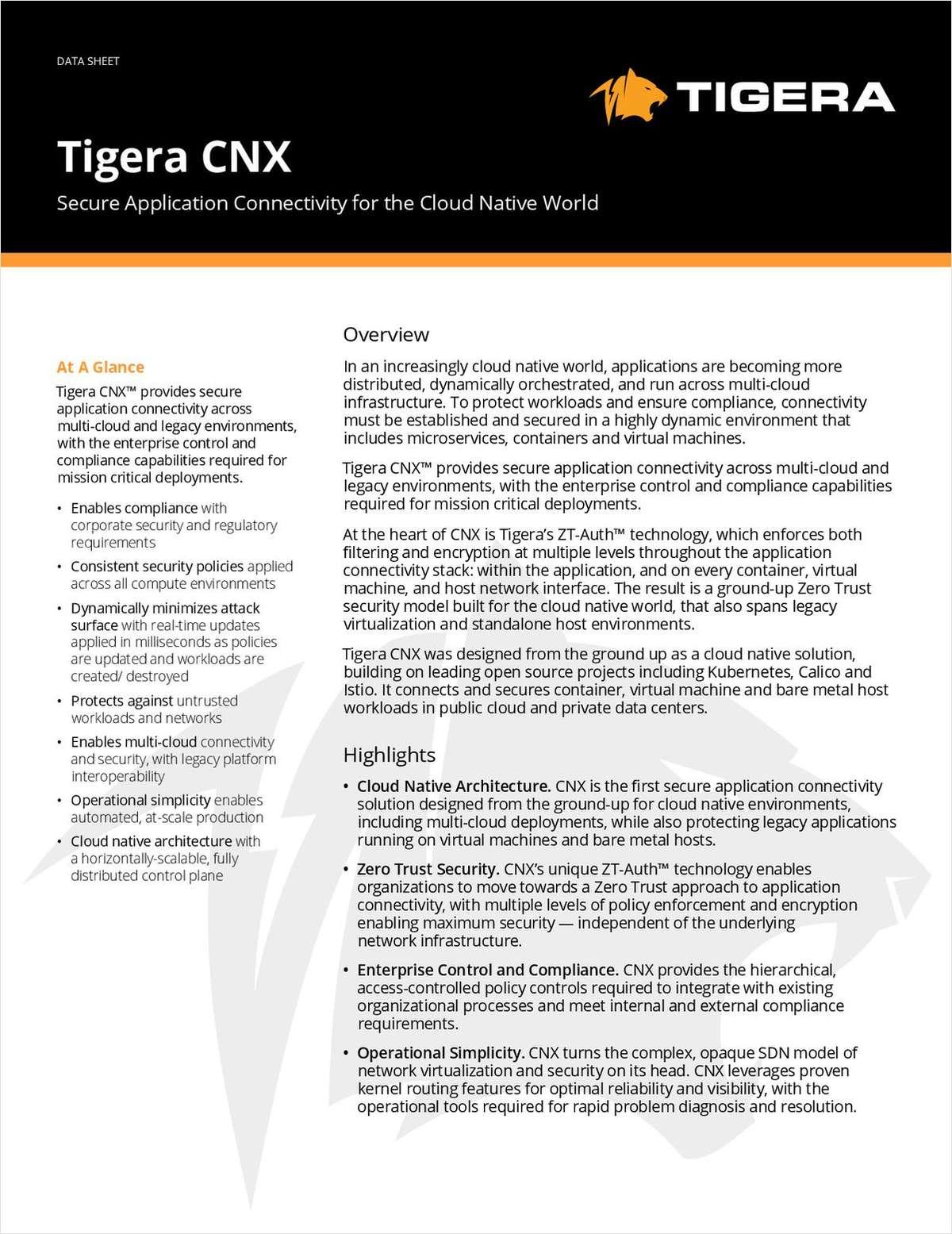 Tigera CNX Data Sheet