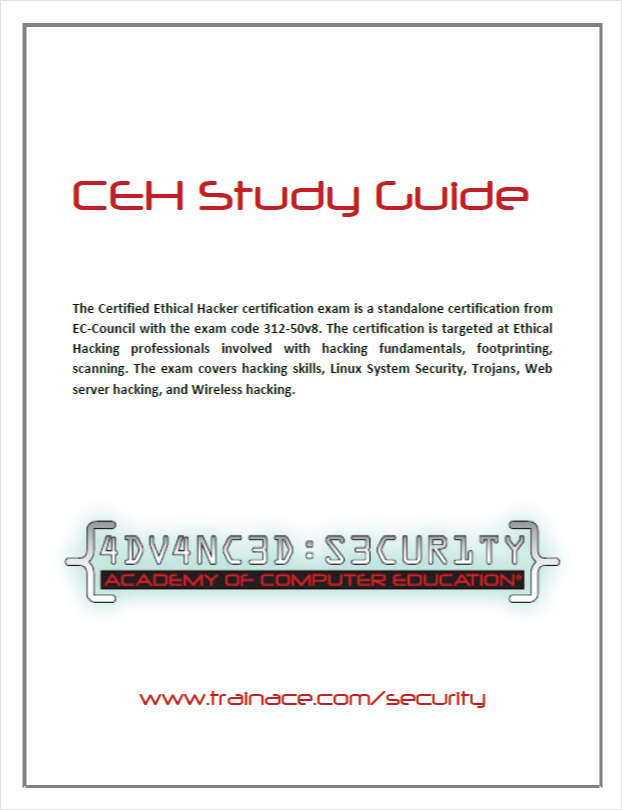 Free Certified Ethical Hacker v8 Exam Prep Study Guide
