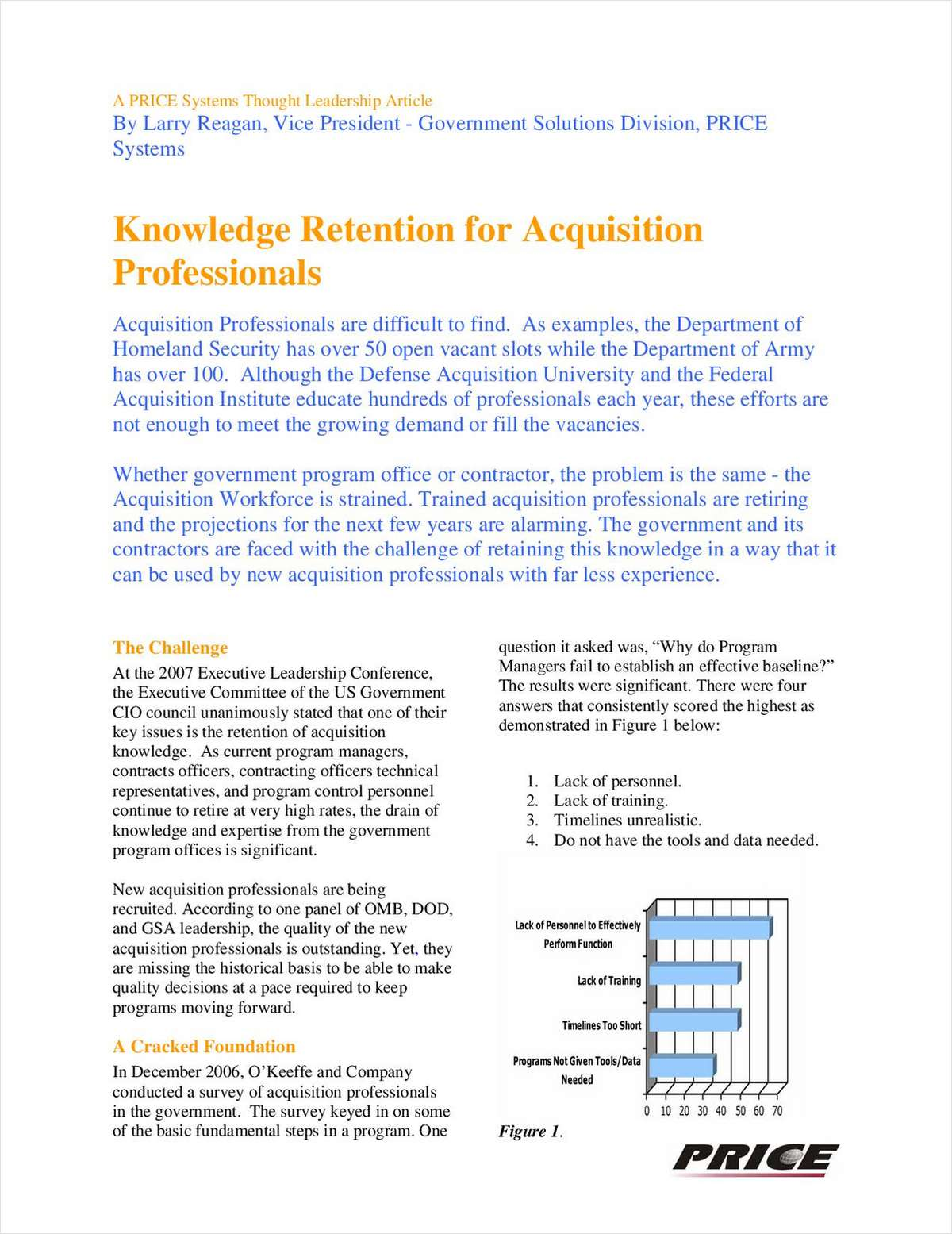 Knowledge Retention for Acquisition Professionals
